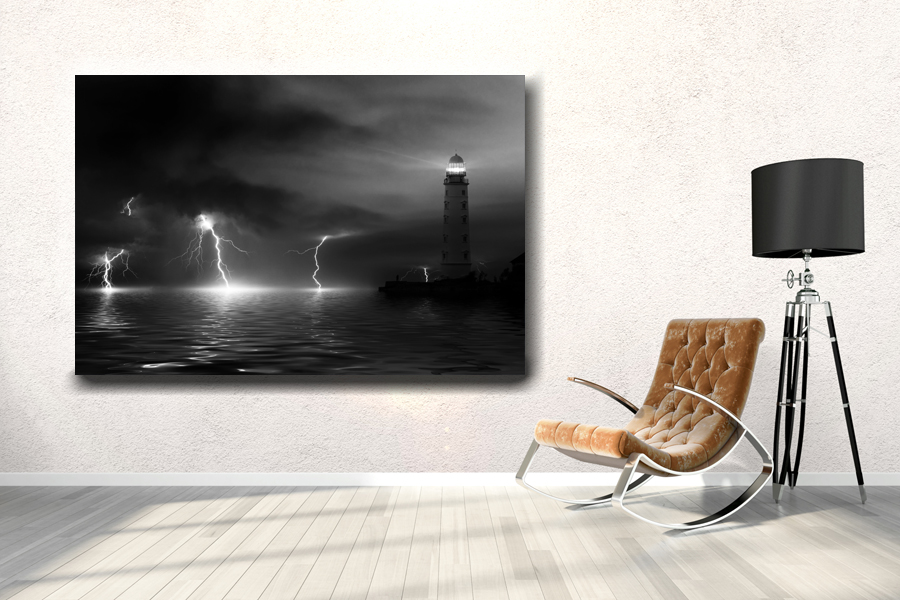 HD Metal Art, Indoor/Outdoor Wall Decor, Lighthouse 21016 200 111 THUMBNAIL