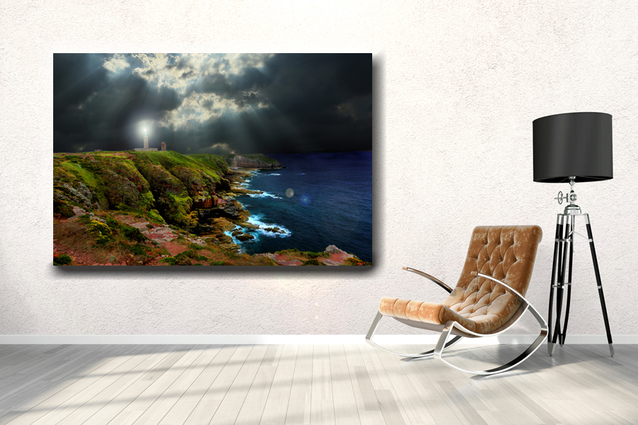 HD Metal Art, Indoor/Outdoor Wall Decor, Lighthouse 21020 200 110 THUMBNAIL