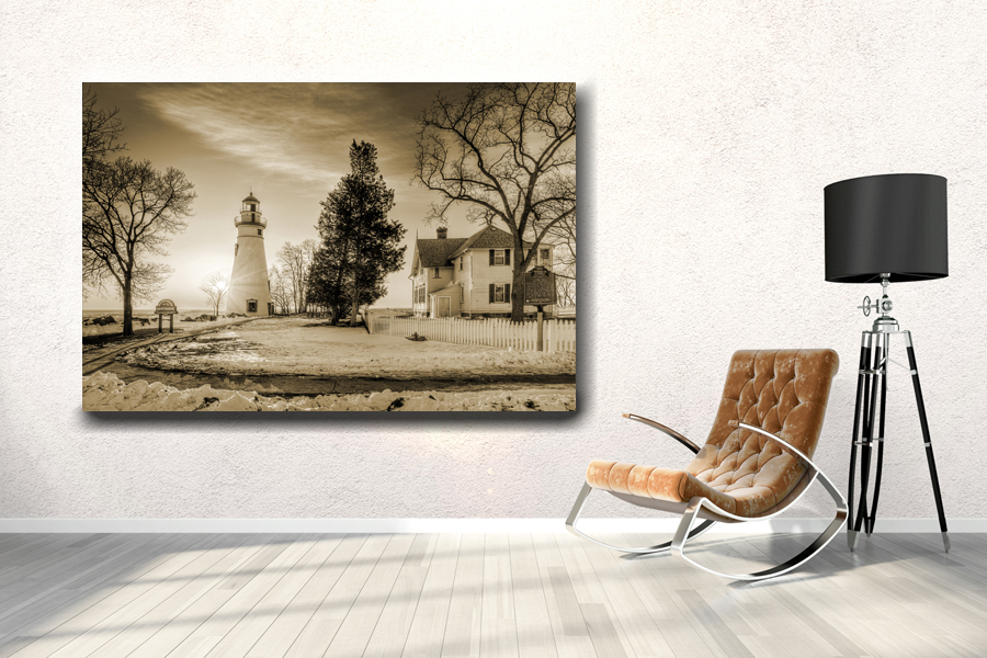 HD Metal Art, Indoor/Outdoor Wall Decor, Lighthouse 21073 200 110 THUMBNAIL