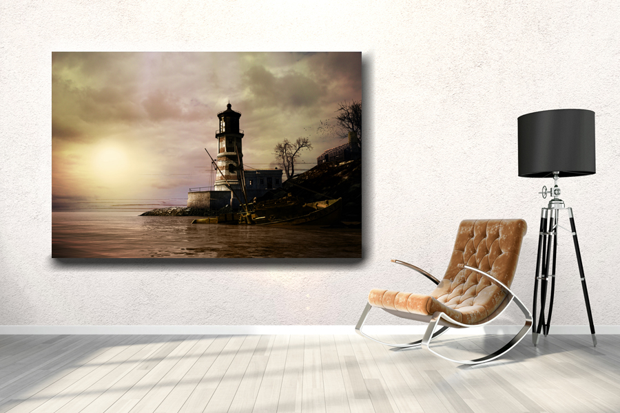 HD Metal Art, Indoor/Outdoor Wall Decor, Lighthouse 21080 200 110 LARGE