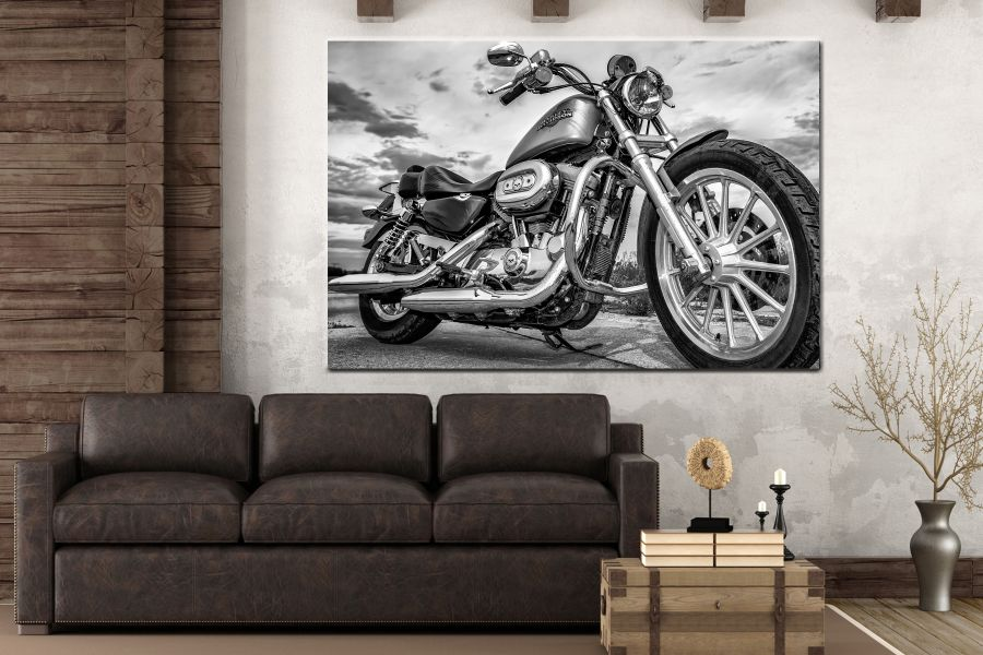 Canvas Art Wall Decor, CANVAS ART MOTORCYCLE 28001 112 THUMBNAIL