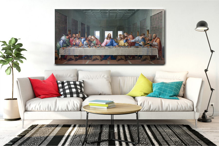 Canvas Art Wall Decor, RELIGION, JESUS, LAST SUPER 29021 120 THUMBNAIL