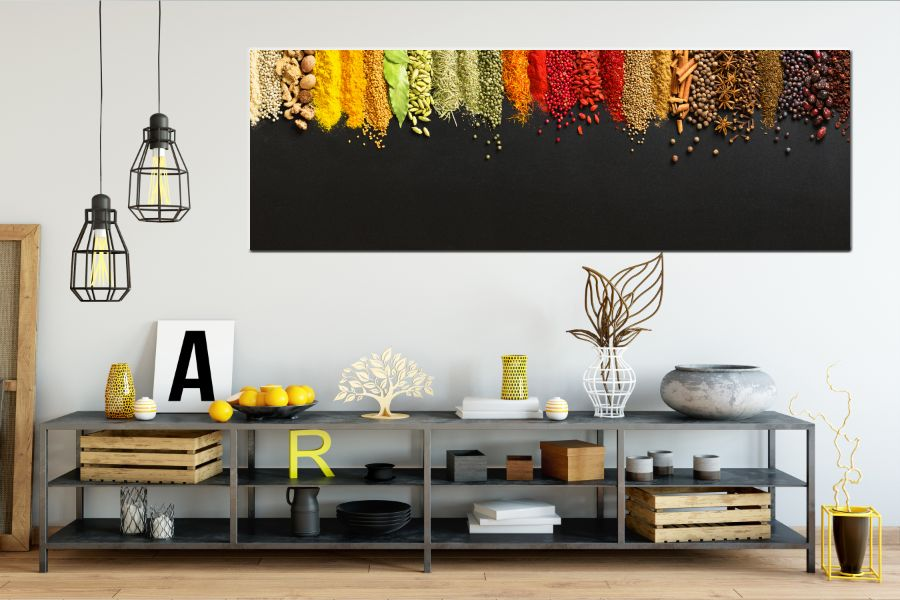 Canvas Art Wall Decor, food, drinks, spices wine 34047 41 THUMBNAIL