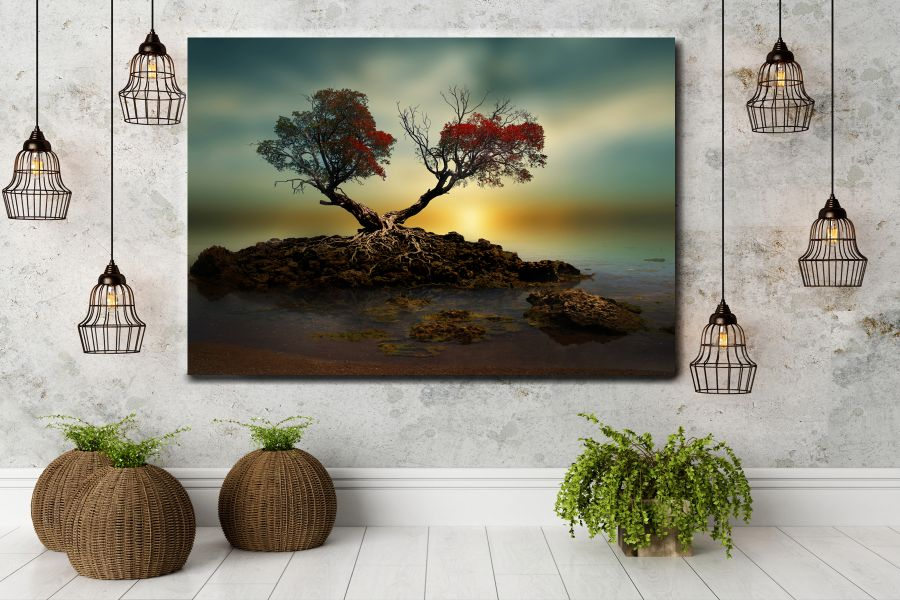 HD Metal Art, Outdoor Art, PIXOLATE, SUBKEEN, DAMASKEEN LANDSCAPE, NATURE 39090 200 THUMBNAIL