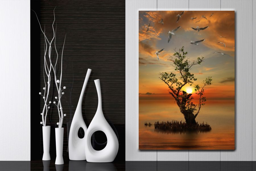 HD Metal Art, Outdoor Art, PIXOLATE, SUBKEEN, DAMASKEEN LANDSCAPE, NATURE 39233 200 THUMBNAIL