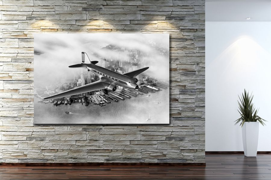 HD Metal Art, Indoor/Outdoor Wall Decor, AIRPLANE AVIATION 44003 200 110 THUMBNAIL
