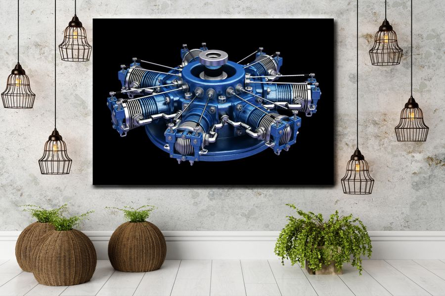 HD Metal Art, Indoor/Outdoor Wall Decor, AIRPLANE AVIATION 44011 200 110 THUMBNAIL