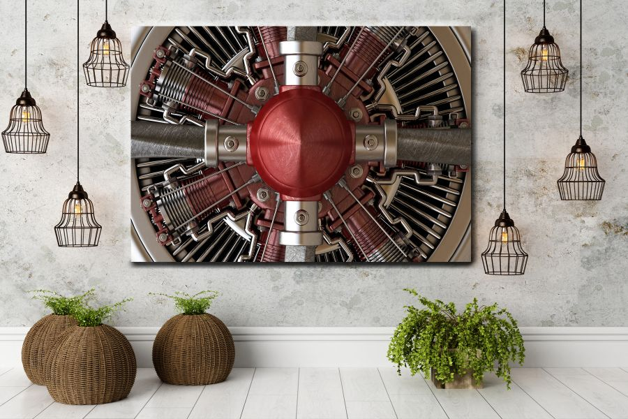 HD Metal Art, Indoor/Outdoor Wall Decor, AIRPLANE AVIATION 44014 200 110 THUMBNAIL