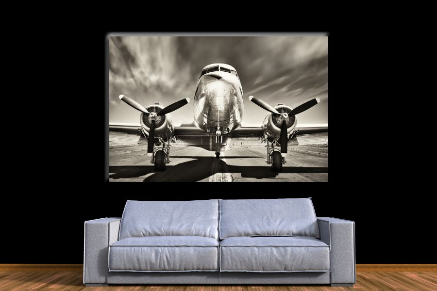 HD Metal Art, Indoor/Outdoor Wall Decor, AIRPLANE AVIATION 44050 200 111 THUMBNAIL