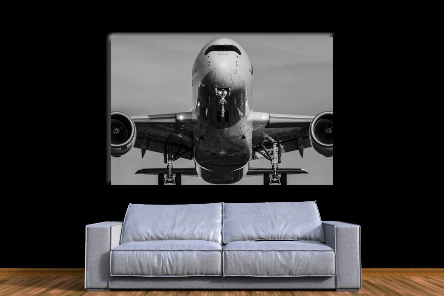 HD Metal Art, Indoor/Outdoor Wall Decor, AIRPLANE AVIATION 44066 200 110 THUMBNAIL