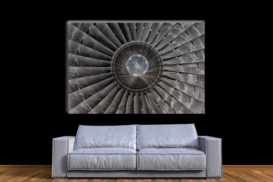 HD Metal Art, Indoor/Outdoor Wall Decor, AIRPLANE AVIATION 44078 200 110 THUMBNAIL