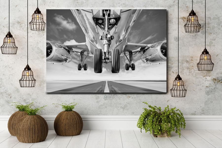 HD Metal Art, Indoor/Outdoor Wall Decor, AIRPLANE AVIATION 44100 200 110 THUMBNAIL