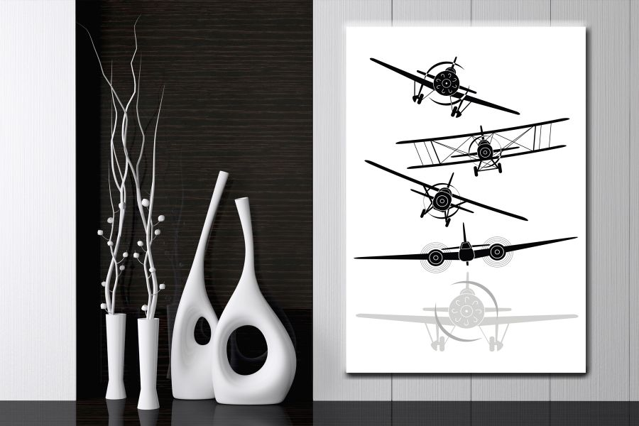Canvas Art Wall Decor,airplane, aviation 44106 THUMBNAIL