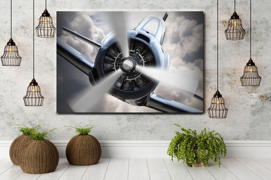 Canvas Art Wall Decor,airplane, aviation 44120 THUMBNAIL