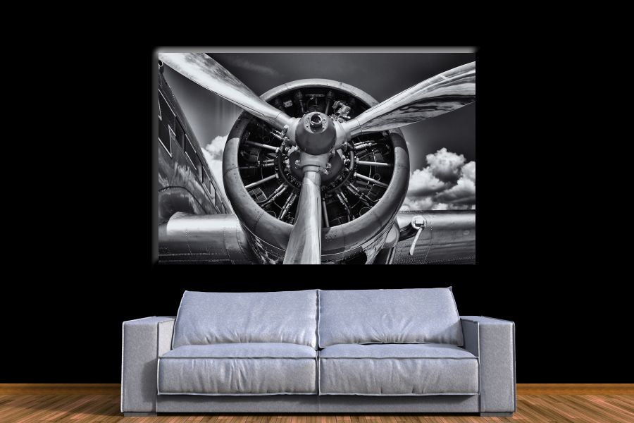 Canvas Art Wall Decor,airplane, aviation 44135 THUMBNAIL