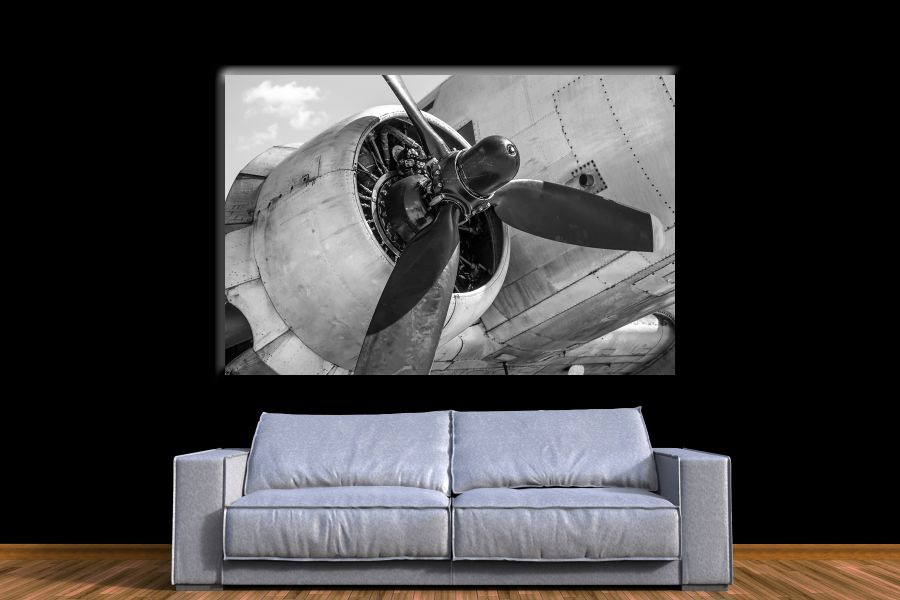 Canvas Art Wall Decor,airplane, aviation 44141 THUMBNAIL
