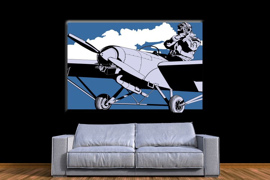 Canvas Art Wall Decor,airplane, aviation 44150 THUMBNAIL