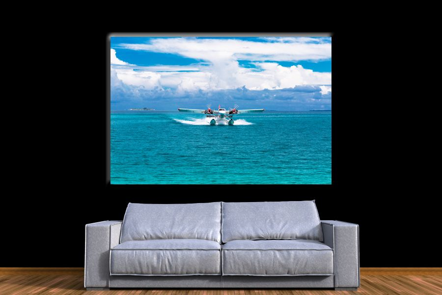 Canvas Art Wall Decor,airplane, aviation 44151 THUMBNAIL