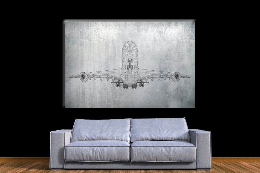 Canvas Art Wall Decor,airplane, aviation 44152 THUMBNAIL