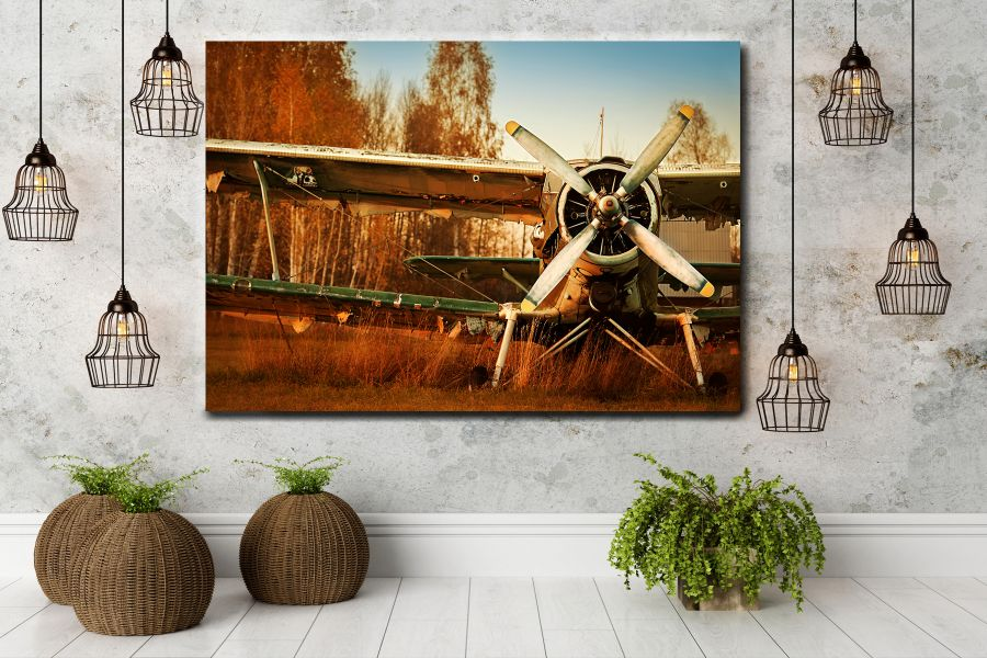 Canvas Art Wall Decor,airplane, aviation 44159 THUMBNAIL