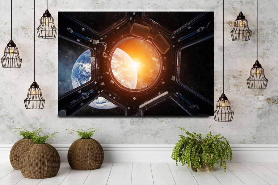 HD Metal Art, Indoor/Outdoor Wall Decor, Space, Spaceship 48003 200 111 THUMBNAIL