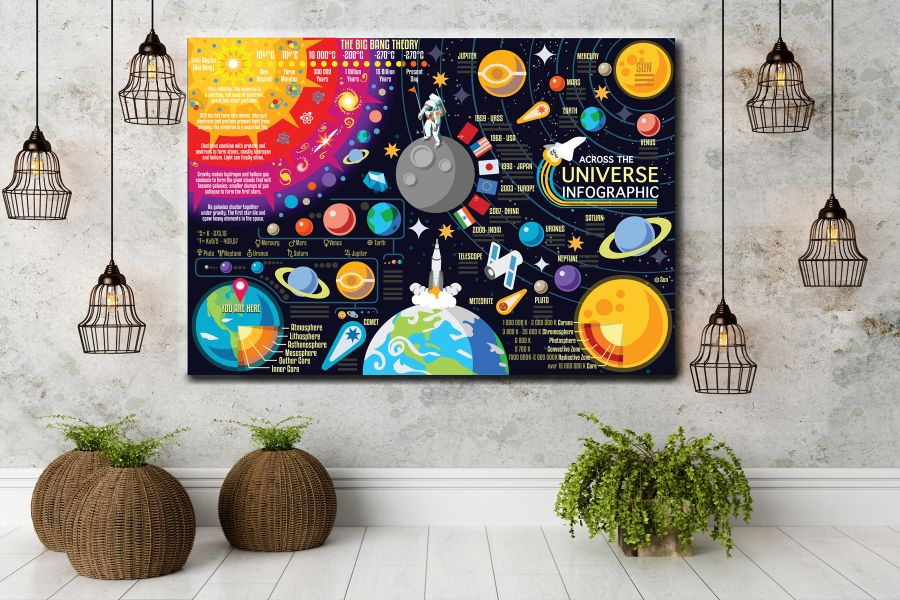 HD Metal Art, Indoor/Outdoor Wall Decor, Space, Spaceship 48142 200 110 THUMBNAIL