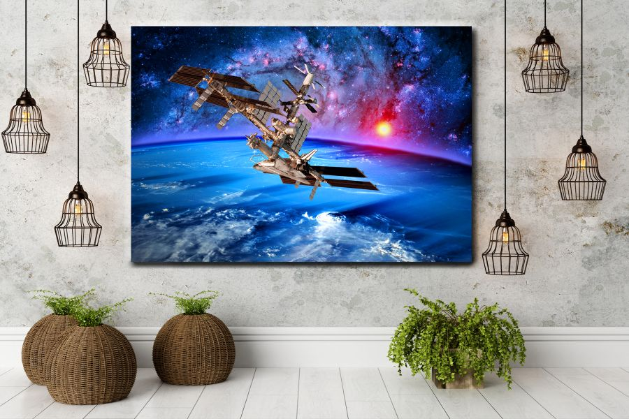 HD Metal Art, Indoor/Outdoor Wall Decor, Space, Spaceship 48170 200 110 THUMBNAIL