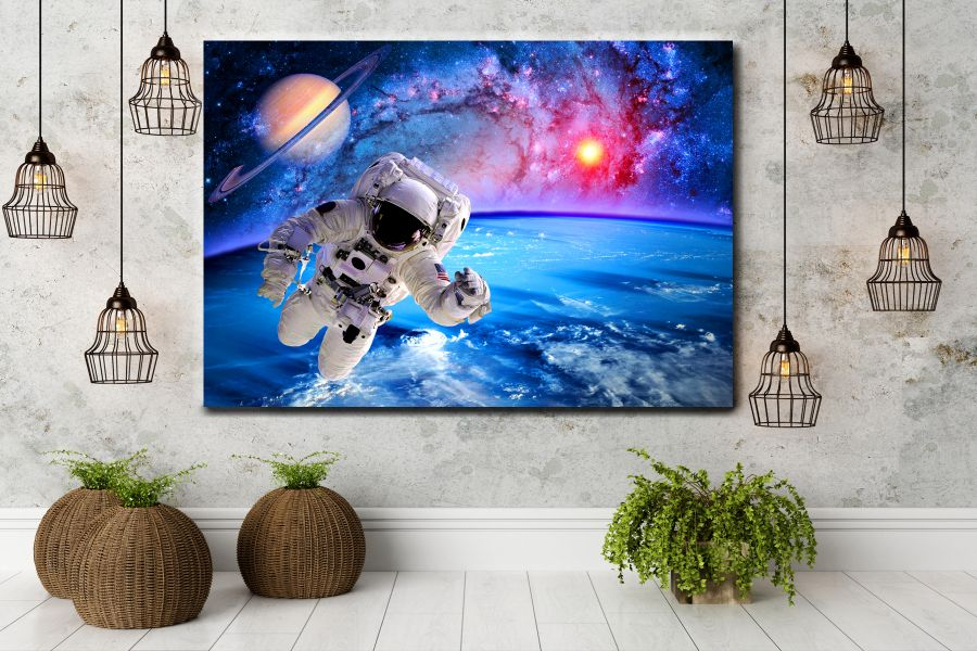 HD Metal Art, Indoor/Outdoor Wall Decor, Space, Spaceship 48173 200 110 THUMBNAIL