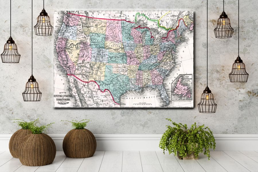 HD Metal Art, Indoor/Outdoor Wall Decor,  Pixolate, Subtint Maps, World Maps, Countries 48513 200 THUMBNAIL