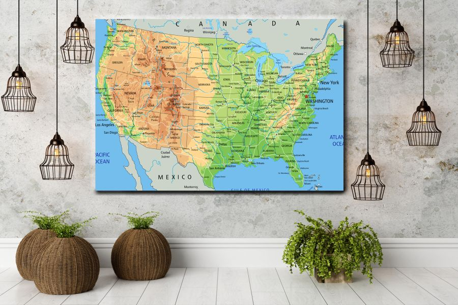 HD Metal Art, Indoor/Outdoor Wall Decor,  Pixolate, Subtint Maps, World Maps, Countries 48515 200 THUMBNAIL