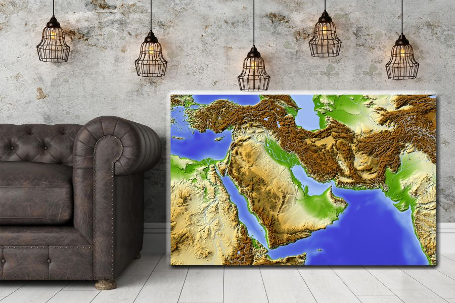 HD Metal Art, Indoor/Outdoor Wall Decor,  Pixolate, Subtint Maps, World Maps, Countries 48520 200 THUMBNAIL
