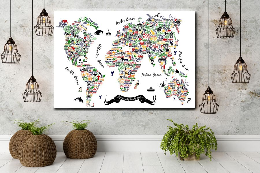 CHILDREN ART, KIDS ART, CARTOON, CHILDREN MOTO, CHILDREN MAP THUMBNAIL