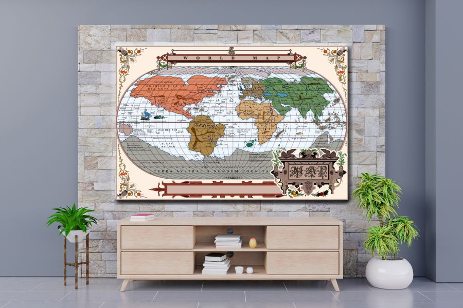 HD Metal Art, Indoor/Outdoor Wall Decor,  Pixolate, Subtint Maps, World Maps, Countries 48599 200 THUMBNAIL