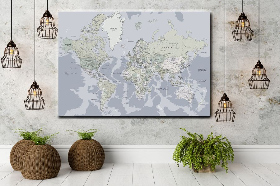 HD Metal Art, Indoor/Outdoor Wall Decor,  Pixolate, Subtint Maps, World Maps, Countries 48626 200 THUMBNAIL