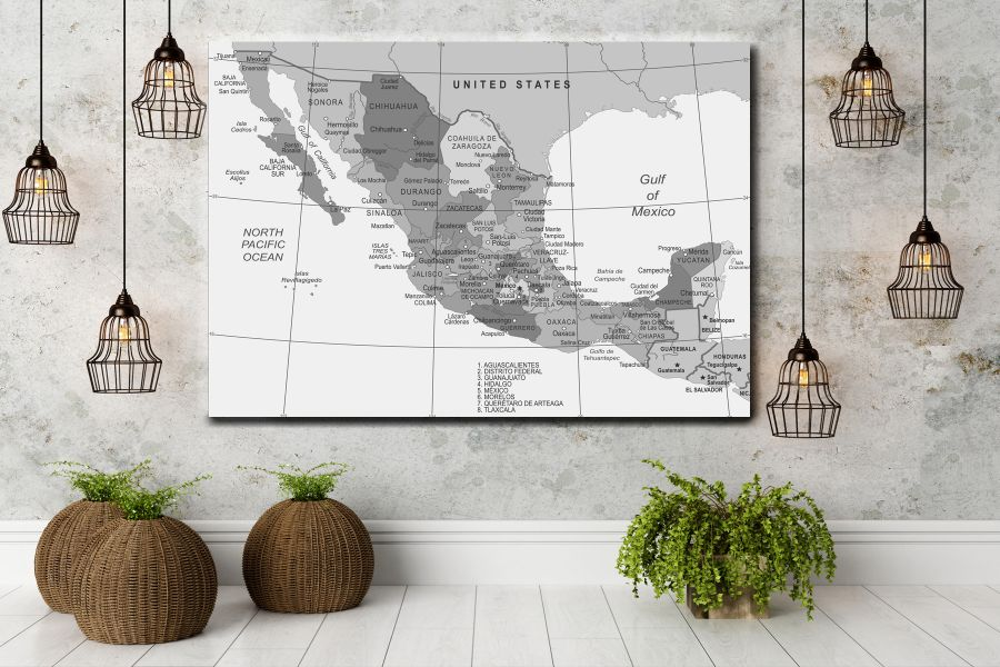 HD Metal Art, Indoor/Outdoor Wall Decor,  Pixolate, Subtint Maps, World Maps, Countries 48641 200 THUMBNAIL