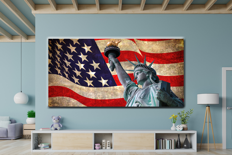 Canvas Art Wall Decor, CANVAS ART PATRIOTIC 60039 120 THUMBNAIL