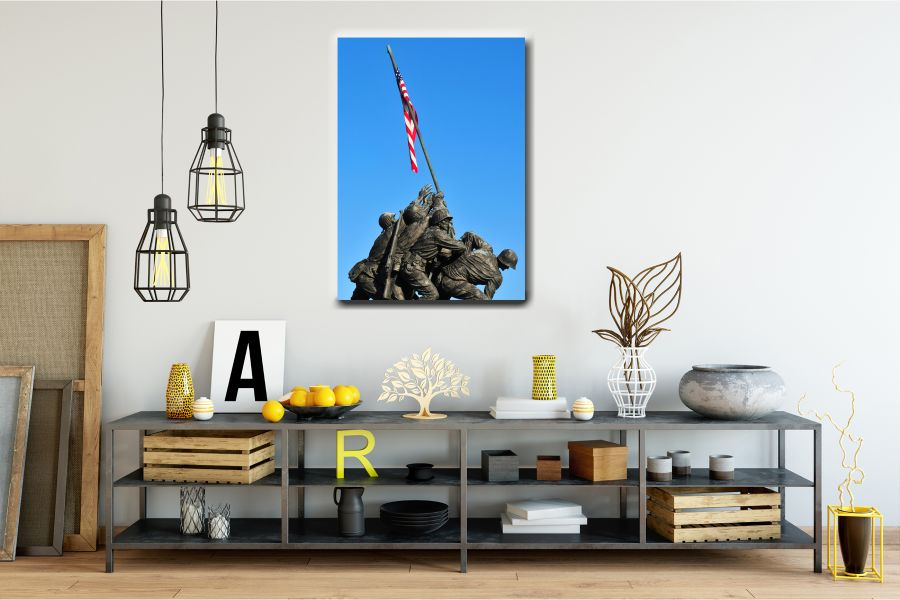 Canvas Art Wall Decor, PATRIOTIC, MILITARY , FLAGS, BATTLE SHIPS 60105 THUMBNAIL