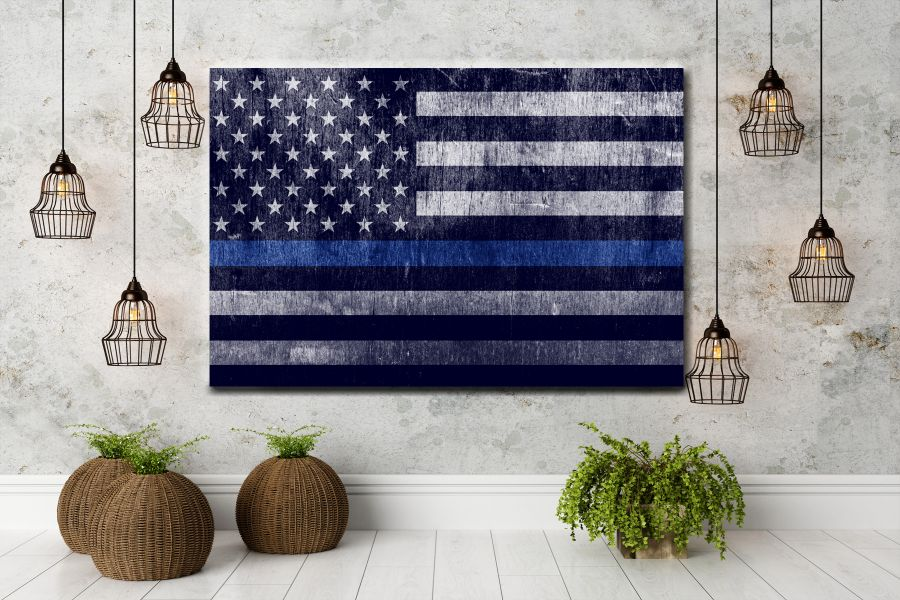 Canvas Art Wall Decor, PATRIOTIC, MILITARY , FLAGS, BATTLE SHIPS 60114 LARGE