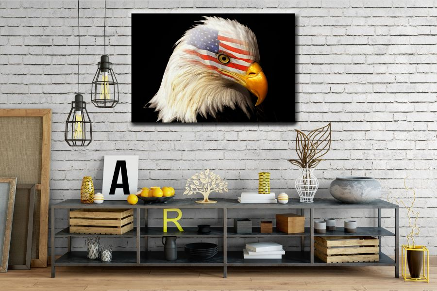 Canvas Art Wall Decor, PATRIOTIC, MILITARY , FLAGS, BATTLE SHIPS 60122 THUMBNAIL
