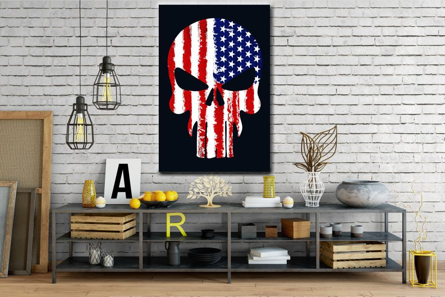 Canvas Art Wall Decor, PATRIOTIC, MILITARY , FLAGS, BATTLE SHIPS 60132 LARGE