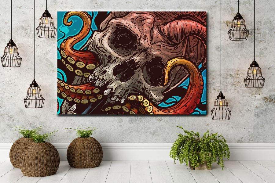 Canvas Art Wall Decor, MYSTICAL, SHULLS, SPIRIT 65027 LARGE