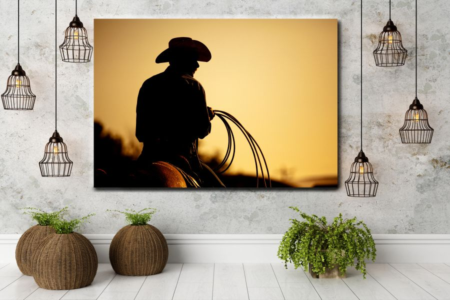 HD Metal Art, Indoor/Outdoor Wall Decor,  Pixolate, Subtint  WILDWEST, COYBOY, HORSES, BARNS 66058 200 THUMBNAIL