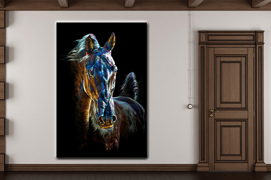 Canvas Art Wall Decor, ANIMALS ART, WILDWEST, COWBOY 66098 LARGE