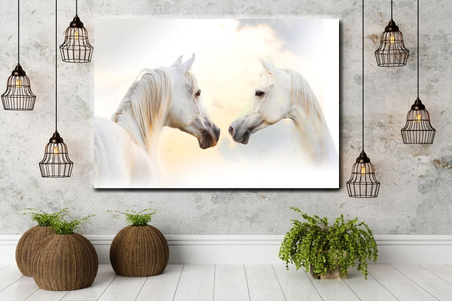 Canvas Art Wall Decor, ANIMALS ART, WILDWEST, COWBOY 66666 LARGE