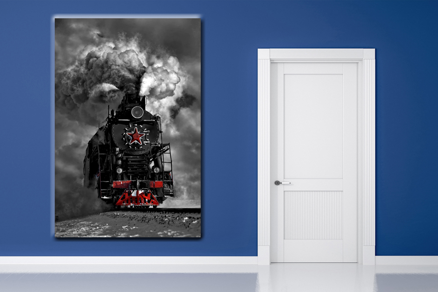 HD Metal Art, Indoor/Outdoor Wall Decor, TRAINS 68000 200 110 THUMBNAIL