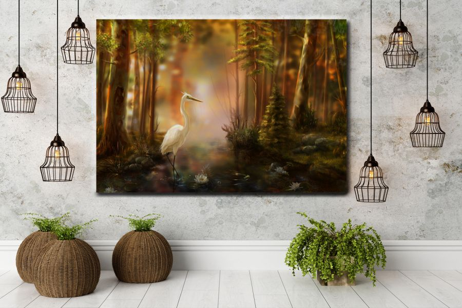 Canvas Art Wall Decor, BIRDS 70008A THUMBNAIL