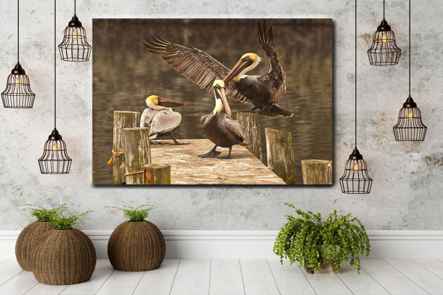 HD Metal Art, Indoor/Outdoor Wall Decor,  Pixolate, Subtint BIRDS 70013 200 THUMBNAIL