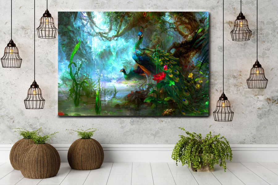 HD Metal Art, Indoor/Outdoor Wall Decor,  Pixolate, Subtint BIRDS 70014 200 THUMBNAIL