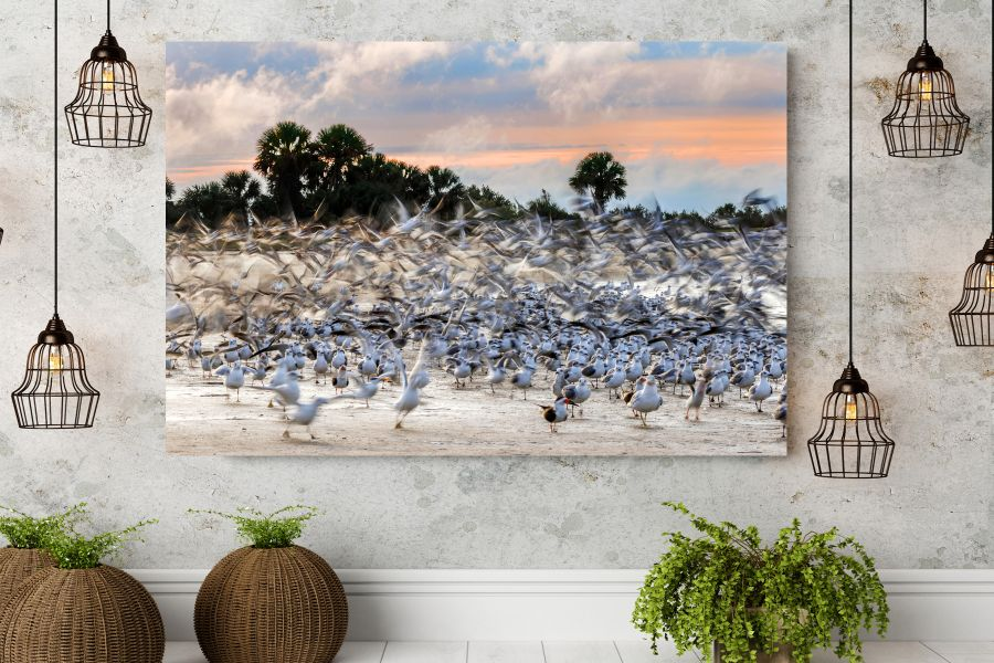 HD Metal Art, Indoor/Outdoor Wall Decor,  Pixolate, Subtint BIRDS 70044 200 THUMBNAIL