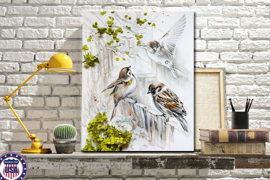 HD Metal Art, Indoor/Outdoor Wall Decor,  Pixolate, Subtint BIRDS 70046 200 THUMBNAIL
